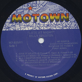 Billy Preston / Late At Night label