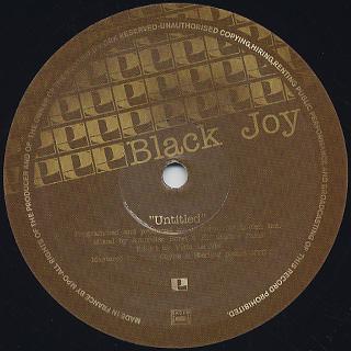 Black Joy / Untitled c/w Paloma back