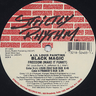 Black Magic / Freedom (Make It Funky) back