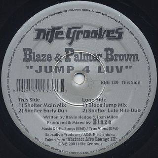 Blaze & Palmer Brown / Jump 4 Luv back