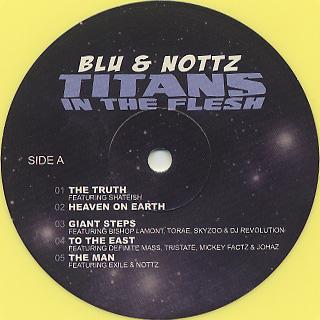 Blu & Nottz / Titans In The Flesh (Yellow Vinyl) label