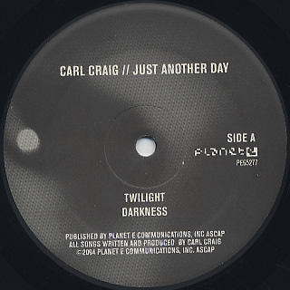 Carl Craig / Just Another Day label