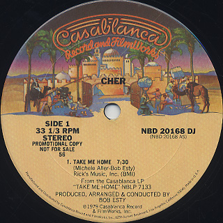 Cher / Take Me Home back