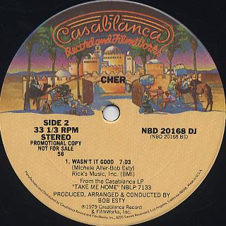 Cher / Take Me Home label