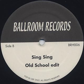 Cleavage / Barah c/w Gaz / Sing-Sing back
