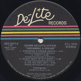Crown Heights Affair / Dreaming A Dream label