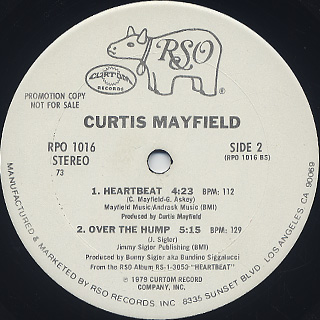 Curtis Mayfield / Tell Me, Tell Me(How Ya Like To Be Loved) label