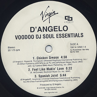 D'Angelo / Voodoo DJ Soul Essentials label