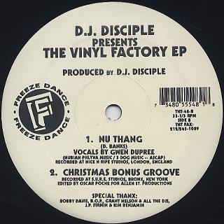 D.J. Disciple / The Vinyl Factory EP back