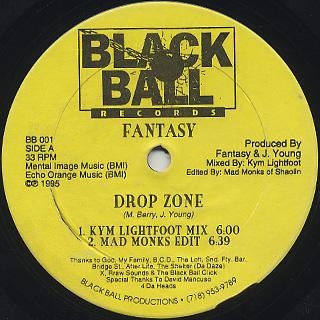 Fantasy / Drop Zone back