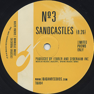 Ferrer & Sydenham Inc. / Sandcastles back