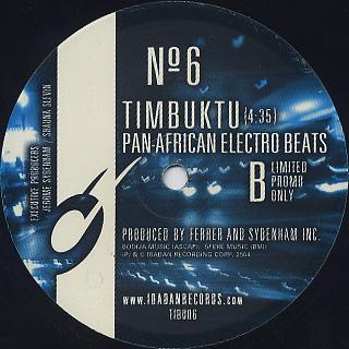 Ferrer & Sydenham Inc. / Timbuktu back