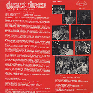 Gino Dentie and The Family / Direct Disco back