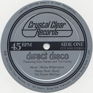 Gino Dentie and The Family / Direct Disco label