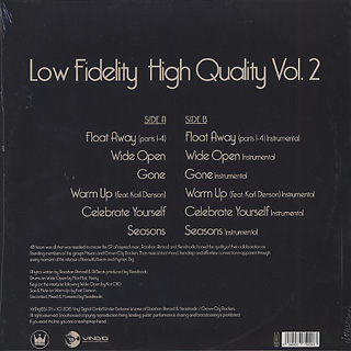 Headnodic/Raashan Ahmad / Low Fidelity, High Quality Vol. 2 back