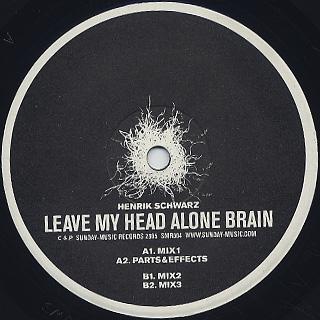Henrik Schwarz / Leave My Head Alone Brain label