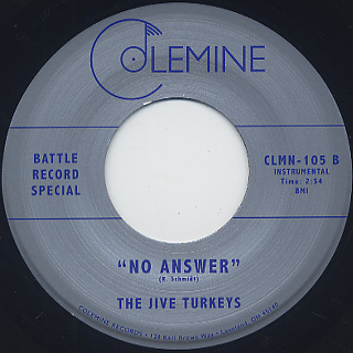Ikebe Shakedown / No Answer c/w The Jive Turkeys / No Answer back