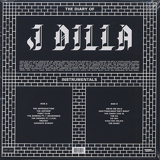 J Dilla / The Diary (Instrumentals) back
