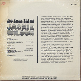 Jackie Wilson / Do Your Thing back