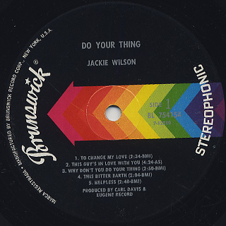 Jackie Wilson / Do Your Thing label
