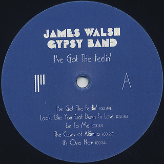 James Walsh Gypsy Band / I've Got The Feelin' label