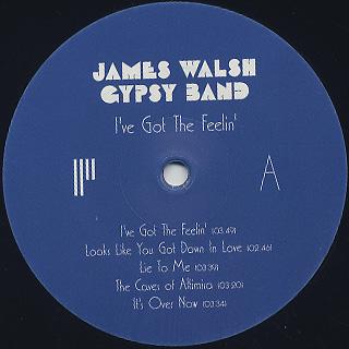 James Walsh Gypsy Band / I've Got The Feelin' label