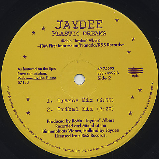 Jaydee / Plastic Dream label