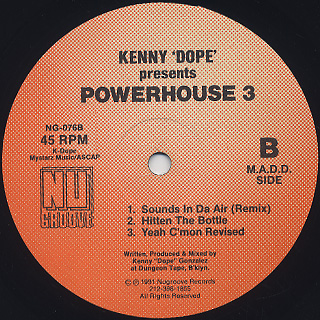 Kenny 'Dope' Presents Powerhouse / 3 back
