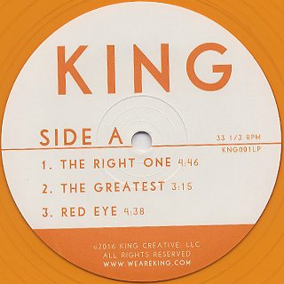 King / We Are King (2LP) label