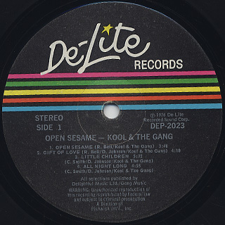 Kool And The Gang / Open Sesame label