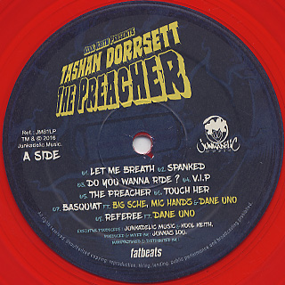 Kool Keith Presents Tashan Dorresett / The Preacher label