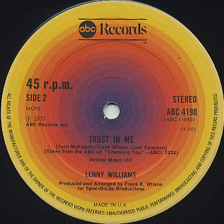 Lenny Williams / Choosing You (12