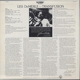 Les DeMerle / Transfusion back
