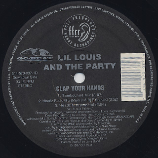 Lil' Louis & The Party / Clap Your Hands back