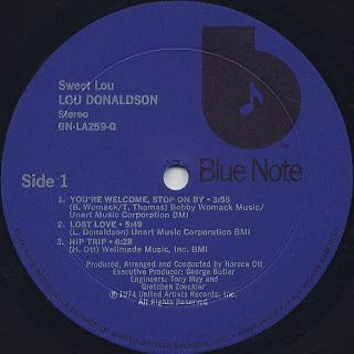 Lou Donaldson / Sweet Lou label