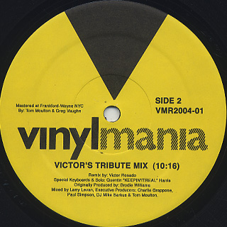 Man Friday / Love Honey, Love Heartache (25th Anniversary Remix) label