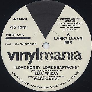 Man Friday / Love Honey, Love Heartache