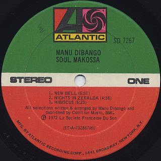 Manu Dibango / Soul Makossa label