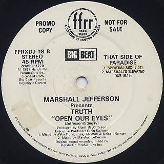 Marshall Jefferson Presents Truth / Open Our Eyes back