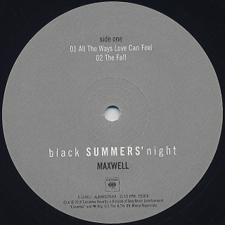 Maxwell / blackSUMMERS'night (2LP) label