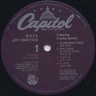 Maze featuring Frankie Beverly / Joy and Pain label