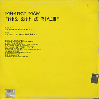 Memory Man / This Shit Is Real back