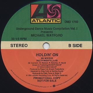 Michael Watford / Holdin' On back