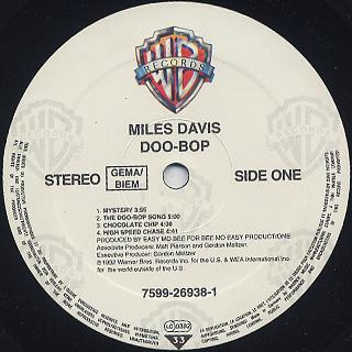 Miles Davis / Doo-Bop label
