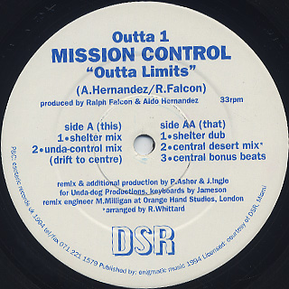 Mission Control / Outta Limits back