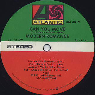 Modern Romance / Can You Move back