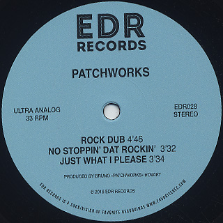 Patchworks / No Stoppin' Dat Rockin' back