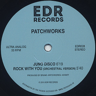 Patchworks / No Stoppin' Dat Rockin' label