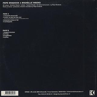 Pepe Bradock & Michelle Weeks / Distorted Echoes back