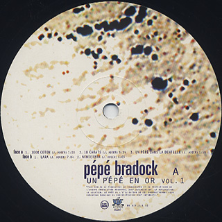 Pepe Bradock / Un Pepe En Or Vol.1 label